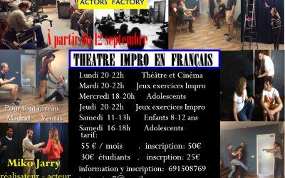 Cours de théâtre en français (Miko Jarry)
