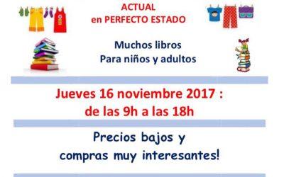 GRANDE VENTE DE VETEMENTS & LIVRES – 16 novembre – calle Liebre, 24