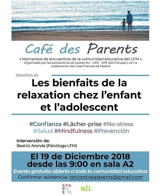 Café des Parents sur la relaxation chez l'enfant et l'adolescent