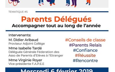 Rencontres Parents Délégués Secondaire – FAPÉE
