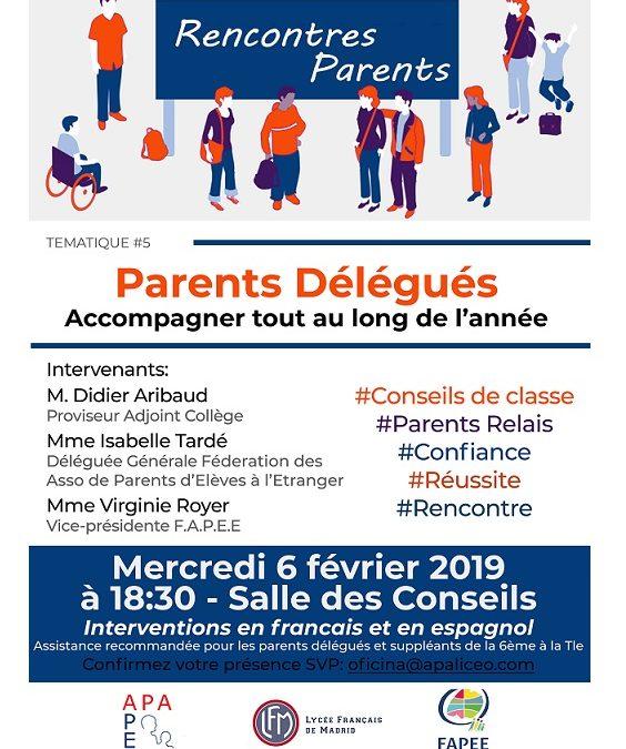 Rencontres Parents Délégués Secondaire – FAPÉE
