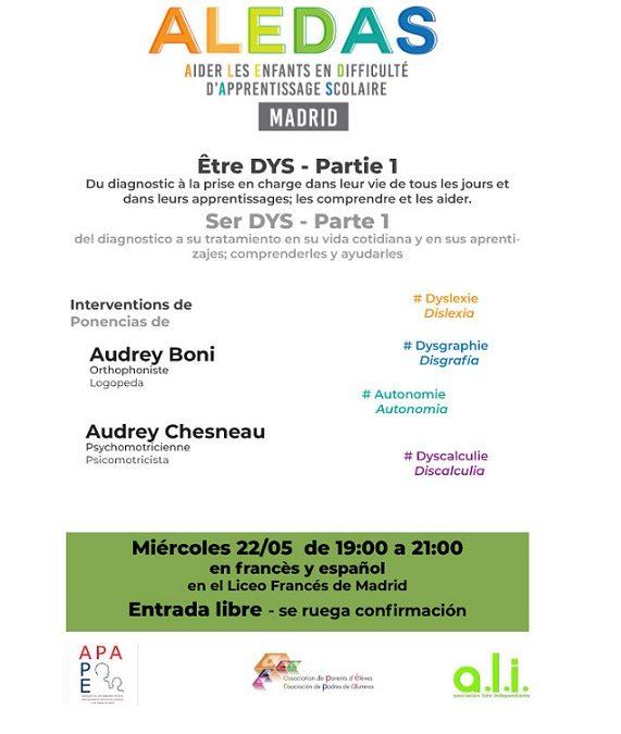 Conférence ALEDAS MADRID: Être DYS – Partie 1
