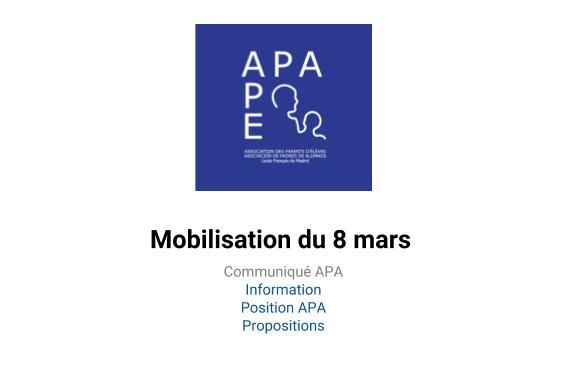 Huelga en el LFM el 8 de marzo, el APA os informa