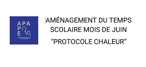Communiqué APA protocole chaleur juin 2019