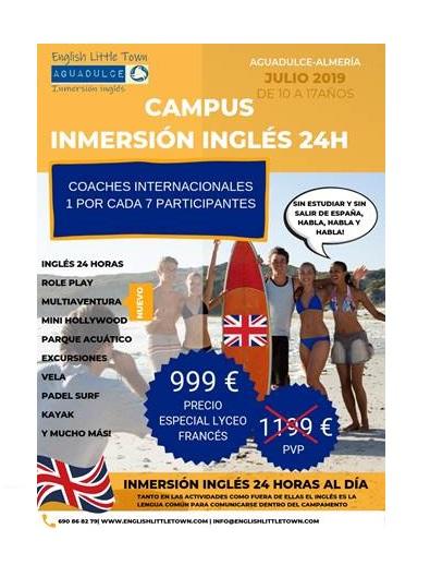 Campus inmersión inglés 24h