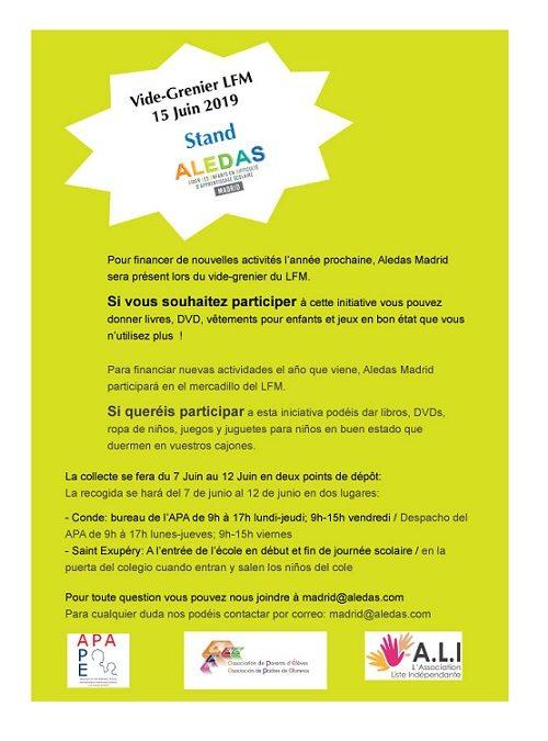 Stand ALEDAS Vide-Grenier LFM – Participez!