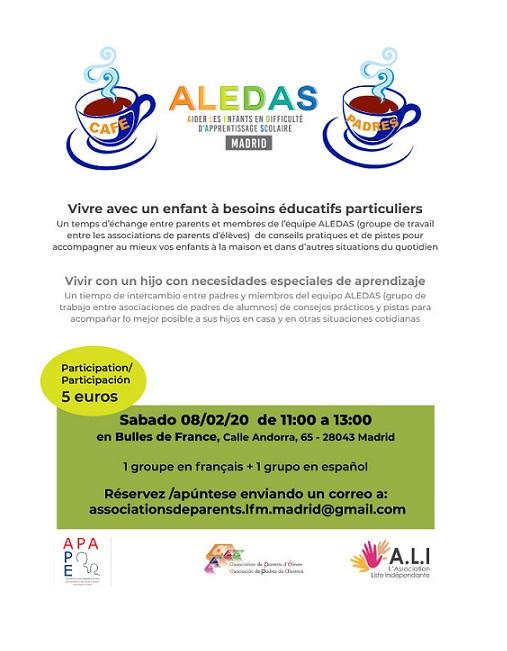 CAFÉ des PARENTS ALEDAS le 8 Février 2020