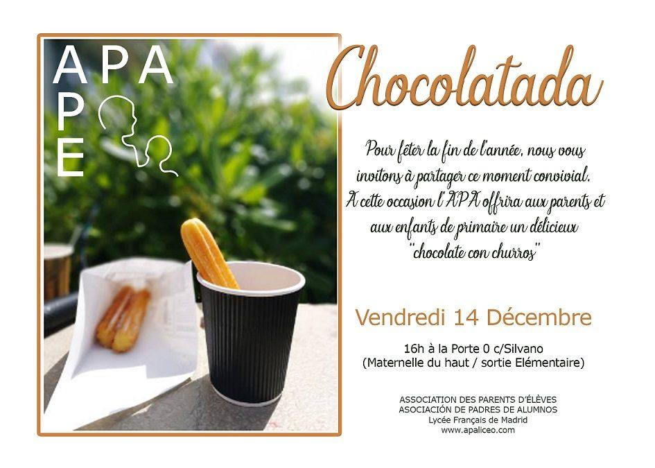 La CHOCOLATADA de l'APA – viernes 14 de diciembre – 16h